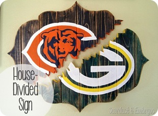'House Divided' Broken Bracket-Shaped Sign