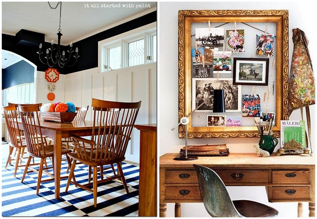 Incorporating wood with color and white!