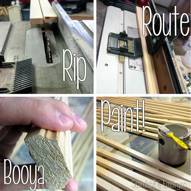 Rip, Route, Paint! {Sawdust and Embryos}