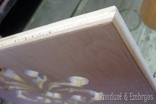Routed corners for our DIY tablet and recipe book holder