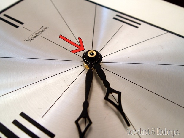 Using a clock kit to fix a broken clock! {Sawdust and Embryos}