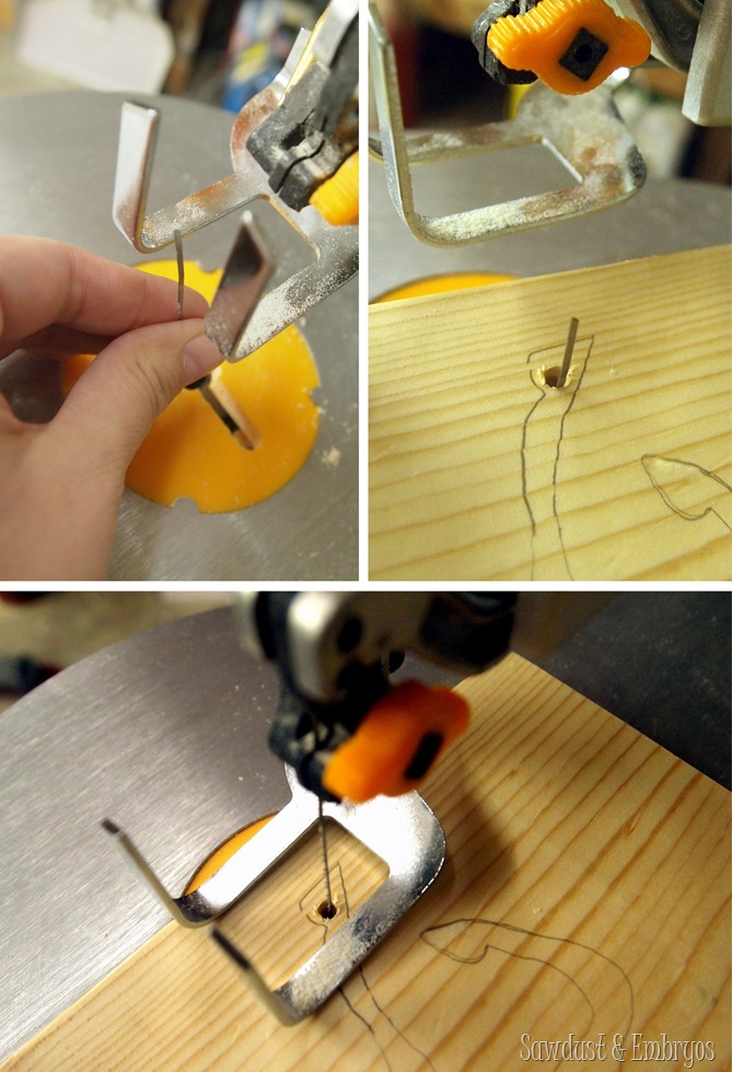 Using a scroll saw to create silhouette artwork