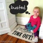 Time-Out Rug {using vinyl as a stencil}