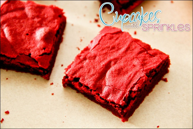 Holiday Red Velvet Brownies... simple and FESTIVE!