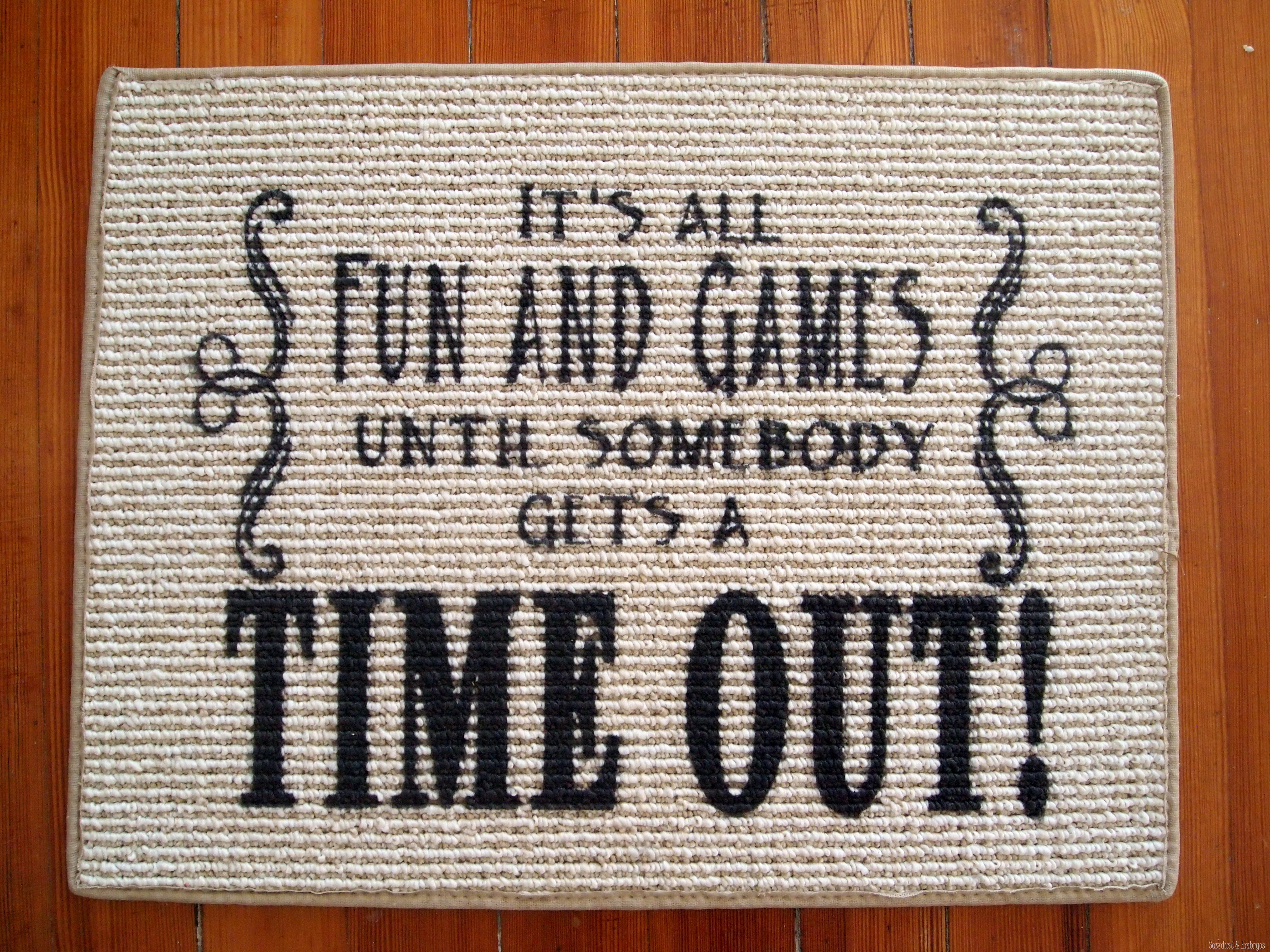 Time Out Rug Using Vinyl As A Stencil Reality Daydream