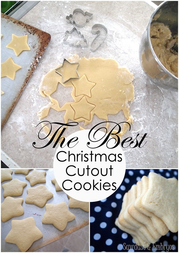 Recipe for THE MOST PERFECT sugar cookie cut-outs! {Sawdust and Embryos}