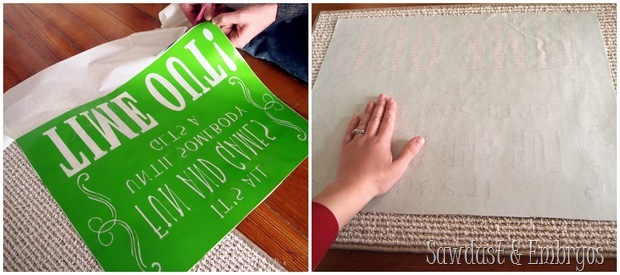 Time-Out Mat ~ using vinyl as a stencil {Sawdust & Embryos}