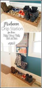 Build this 'Drip Station' to catch all those drips from your family's drippy, snowy, muddy shoes and boots! GENIUS!