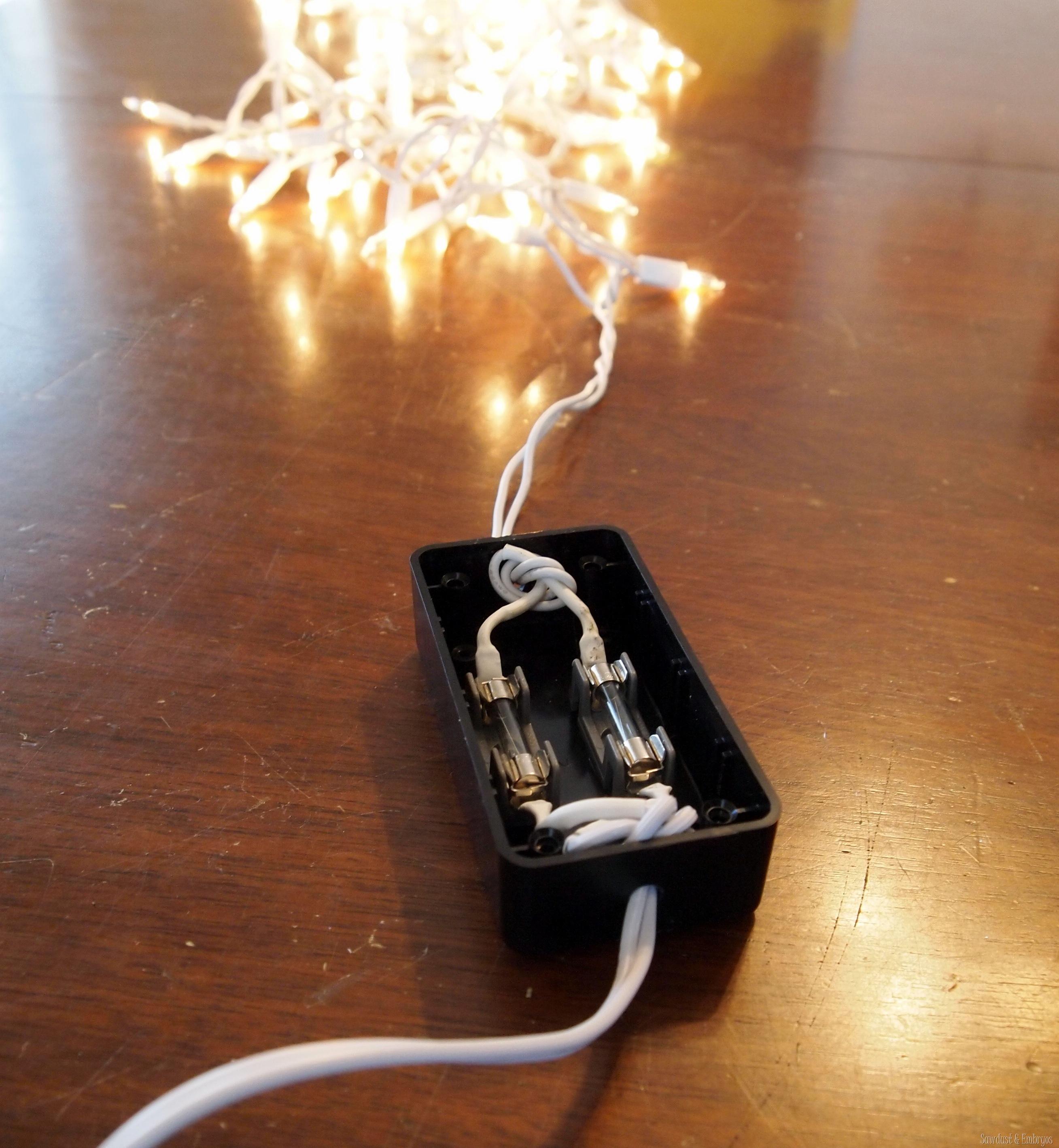 Christmas Lights For Chandeleir Sawdust