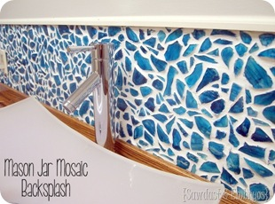 DIY Mason Jar Mosaic Backsplash Tutorial PART 1 {Sawdust and Embryos}