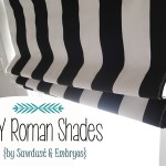 How to make DIY Roman Shades using Mini-Blinds