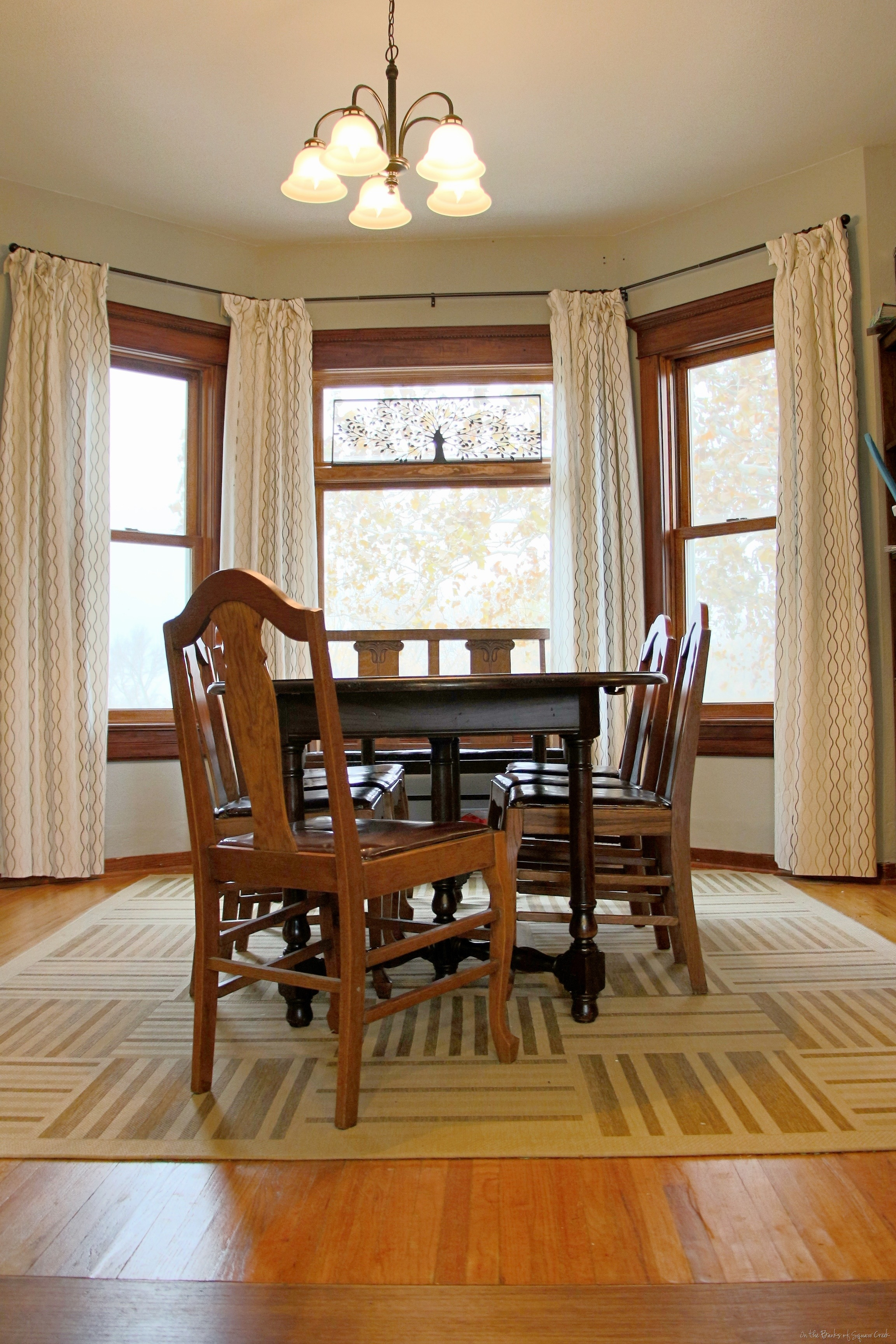 Guestpost thoughts on dining room area rugs reality for Pictures for dining room area