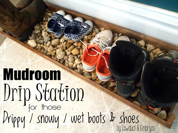 'Drip Tray' for snowy muddy boots and shoes {Sawdust and Embryos}