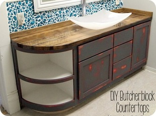 How to Build a Butcher Block Counter {Sawdust and Embryos}