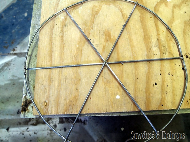 Making a Brace for DIY Chandeliers {Sawdust and Embryos}