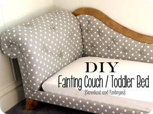 Toddler Bed Fainting Couch {Sawdust and Embryos}