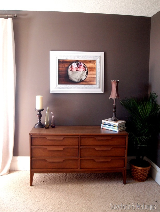 Create your own MASSIVE custom picture frame using trim pieces!