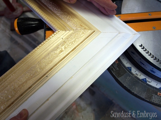 Making a giant picture frame using trim pieces {Sawdust and Embryos}