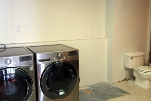 Operation Laundry Room {wiring/plumbing}