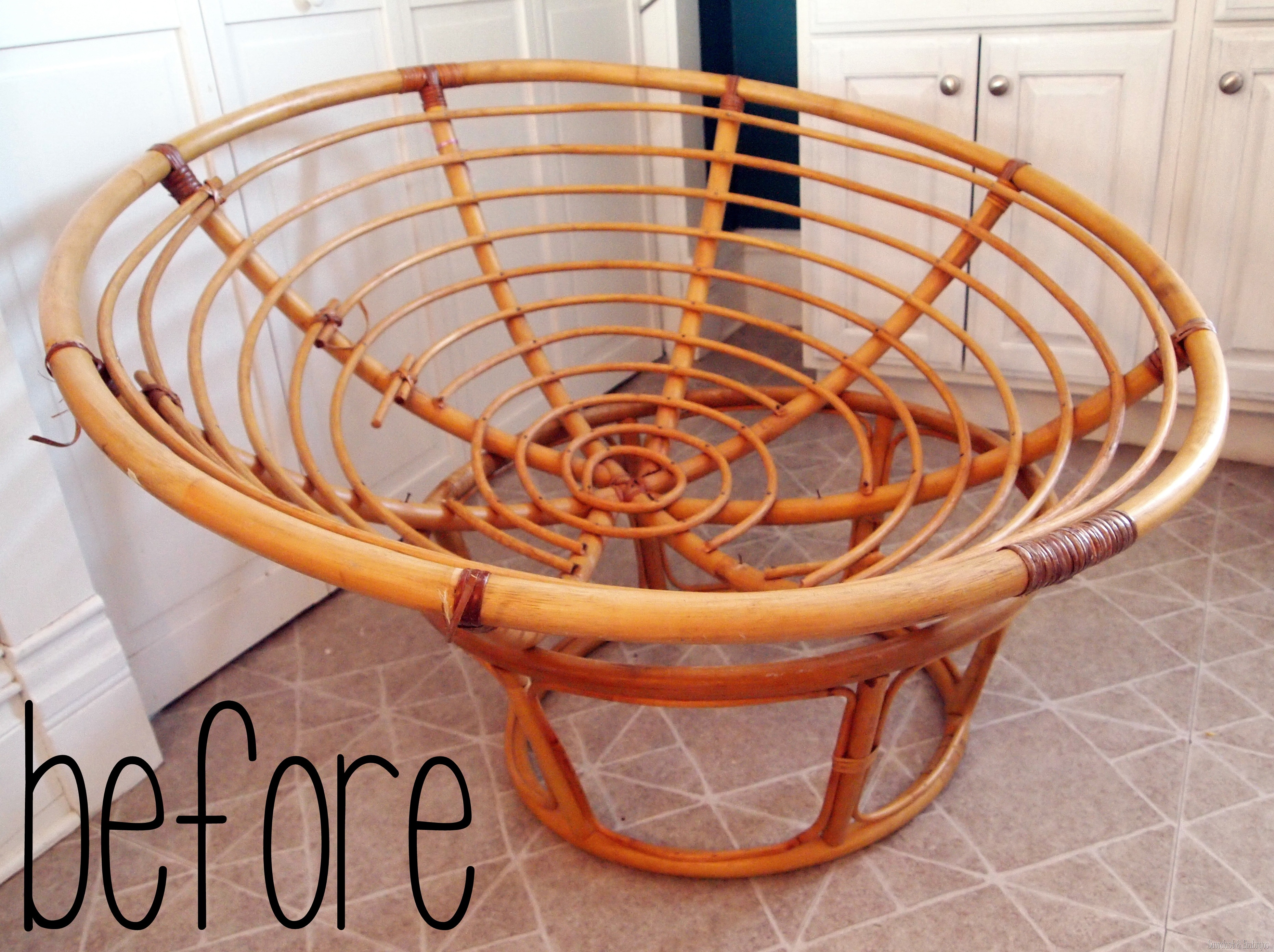 turn your old papasan into a canopy reading nook