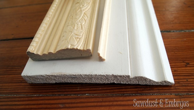 Use trim pieces to make a custom frame! {Sawdust and Embryos}