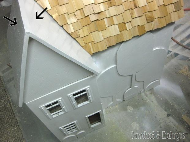 Adding Cedar Wood-shim Roofing to a Dollhouse {Sawdust and Embryos}
