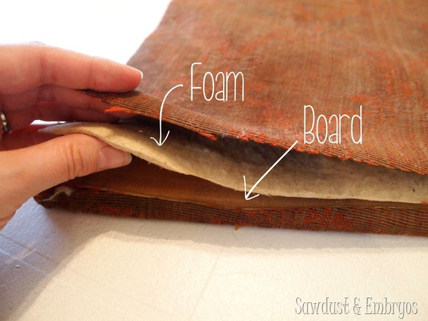 Ancient dining chair foam {Sawdust and Embryos}
