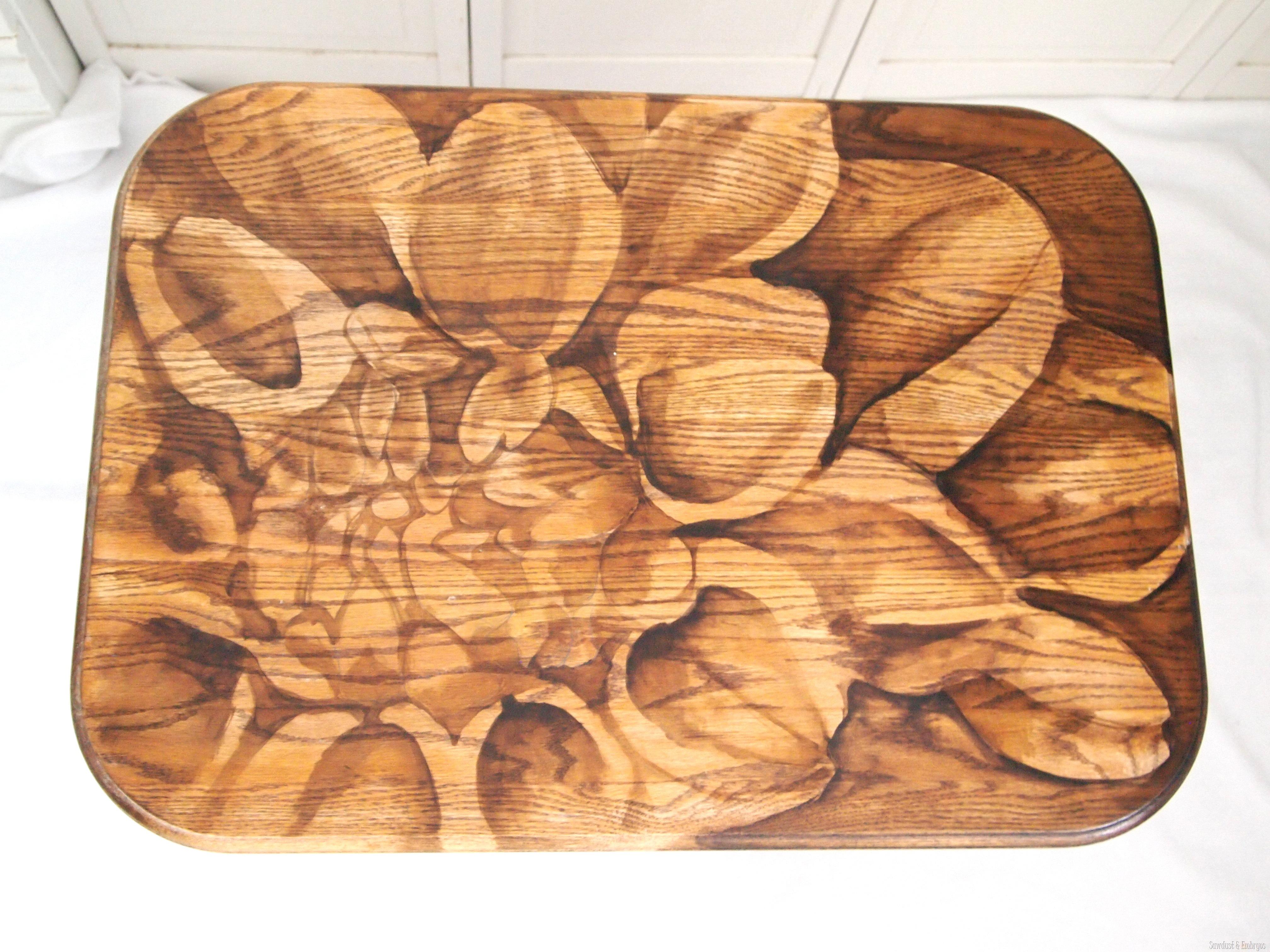 sawdust furniture. Artwork Using Wood Stain On Furniture Tops{Sawdust And Embryos} Sawdust O