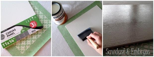 Canvas Kids Stencil Art... using vinyl as a stencil! {Sawdust and Embryos}