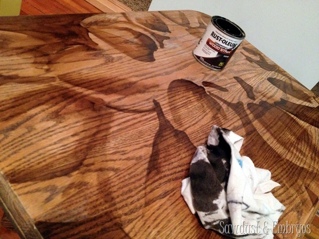 Creating wood-stain artwork... it's easier than in looks! {Sawdust and Embryos}