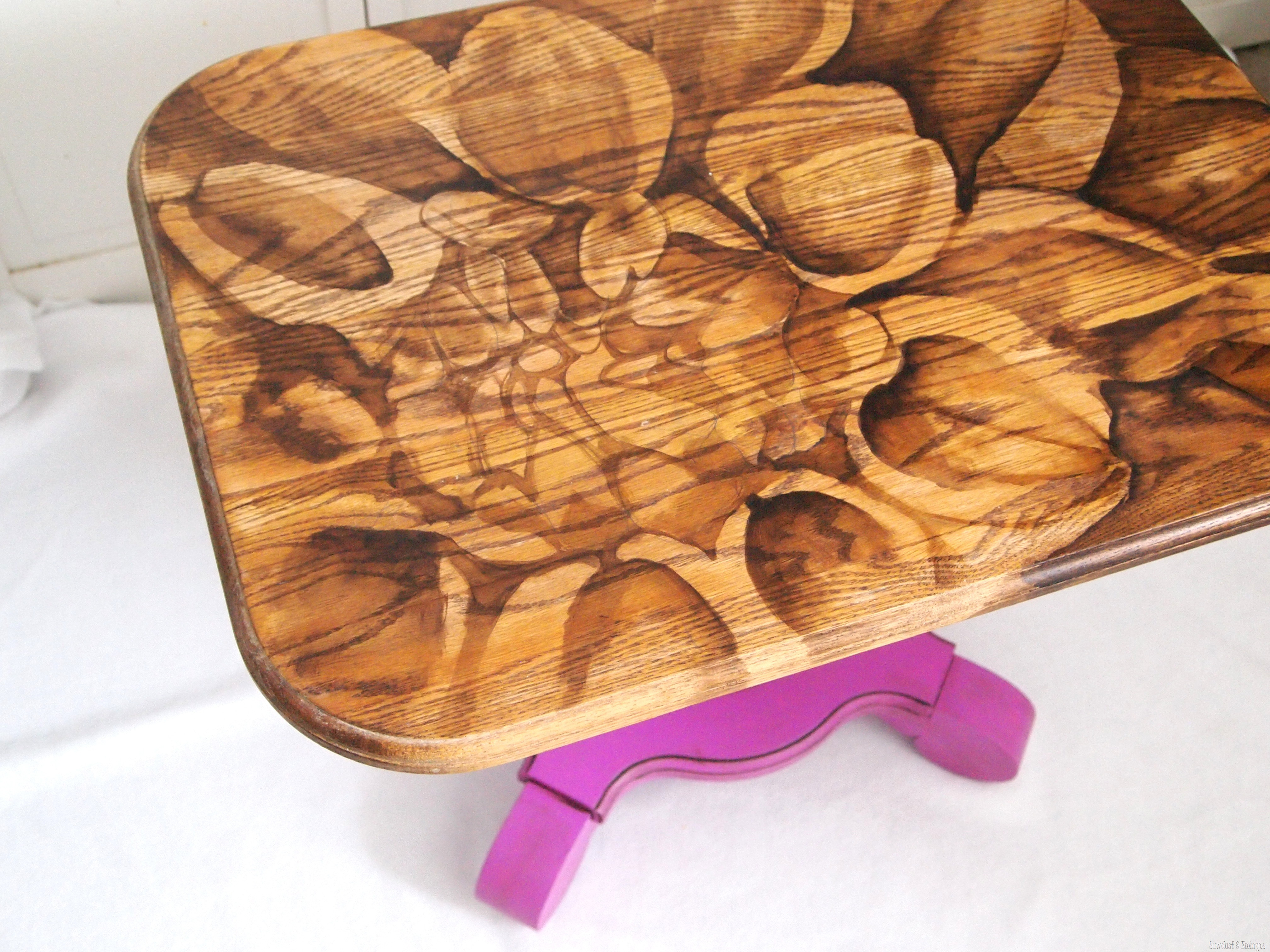 sawdust furniture. End Table Using \u0027Wood-Stained Artwork\u0027 Technique By Sawdust And Embryos} Furniture