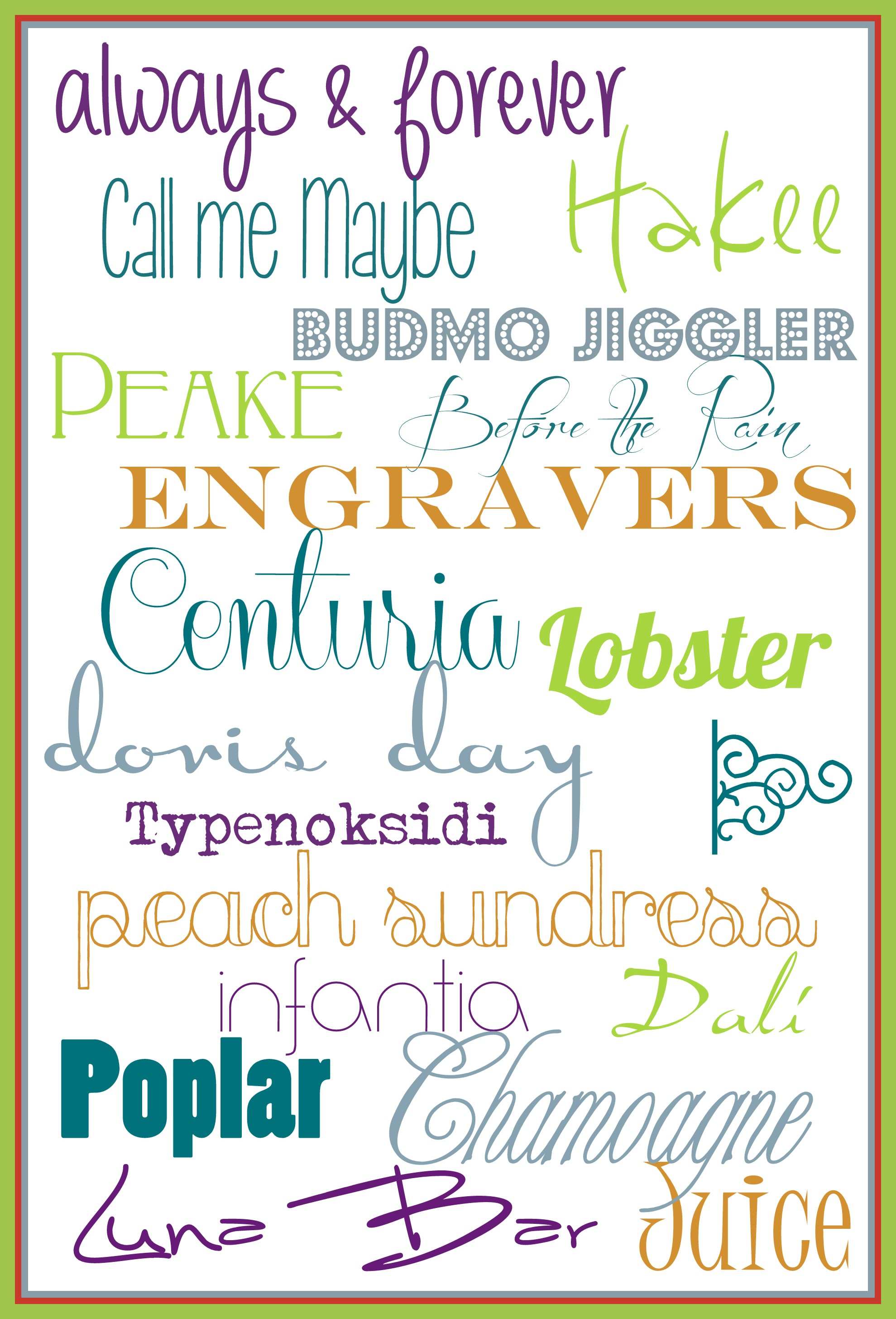 Favorite Fonts! {Sawdust and Embryos}