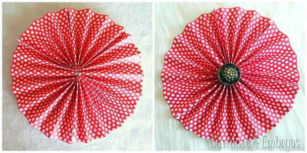 Adding a little button to the center of your pinwheel will give it a little added bling