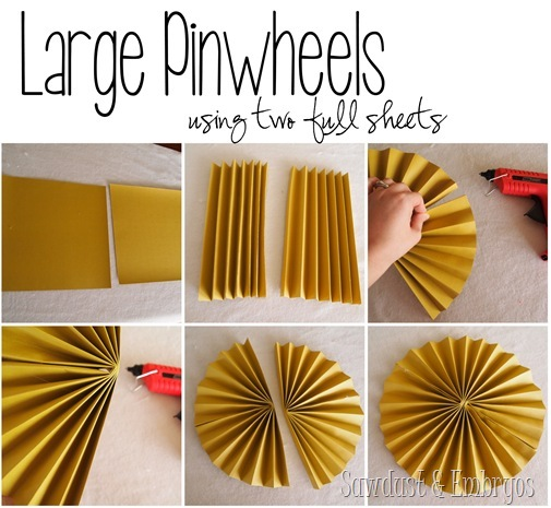 Make pinwheels using basic scrapbooking paper! {Sawdust and Embryos}