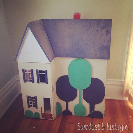 My childhood dollhouse ...before it's makeover! {Sawdust and Embryos}