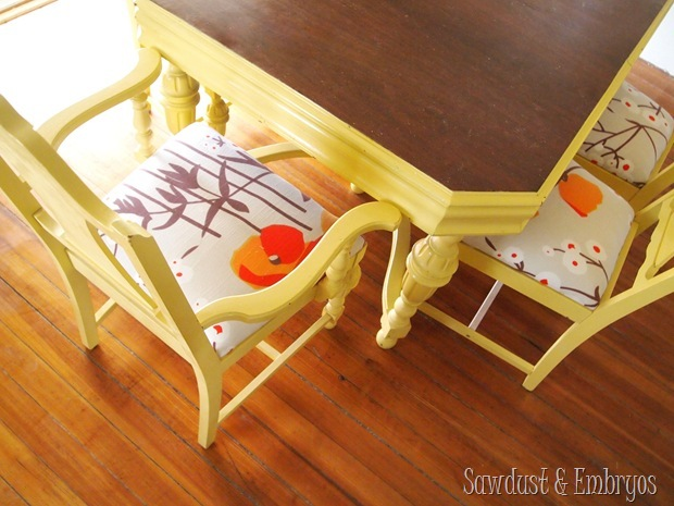 Newly reupholstered chairs {Sawdust and Embryos}