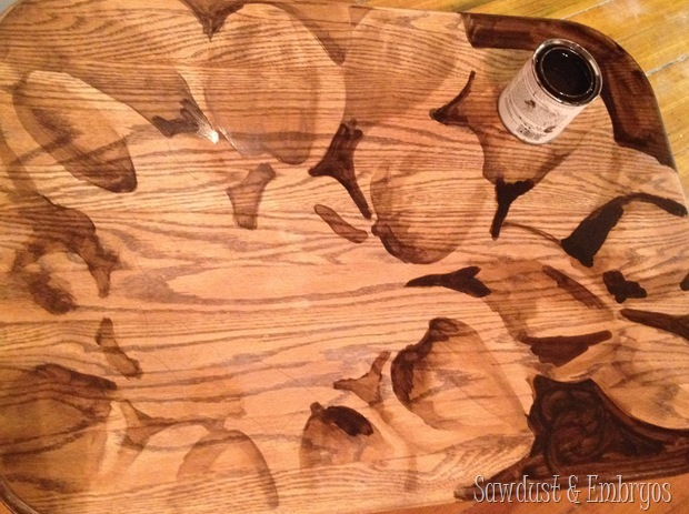PROGRESS Stained Artwork {Sawdust and Embryos}