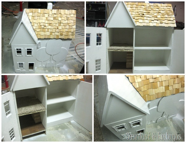 Progress on heirloom dollhouse transformation! {Sawdust and Embryos}