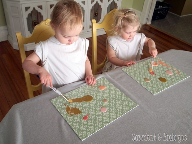 Toddler Artwork... using vinyl as a stencil on canvas {Sawdust and Embryos}
