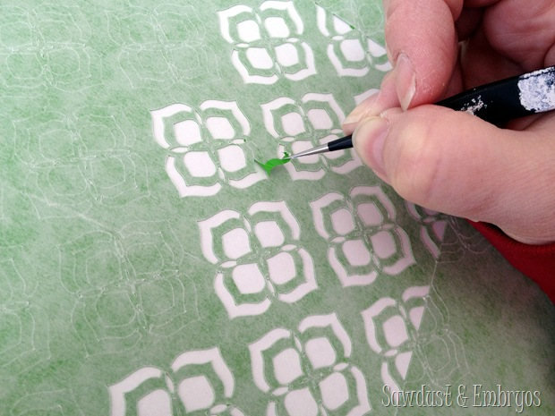 Weeding vinyl pattern to use as stencil artwork! {Sawdust and Embryos}