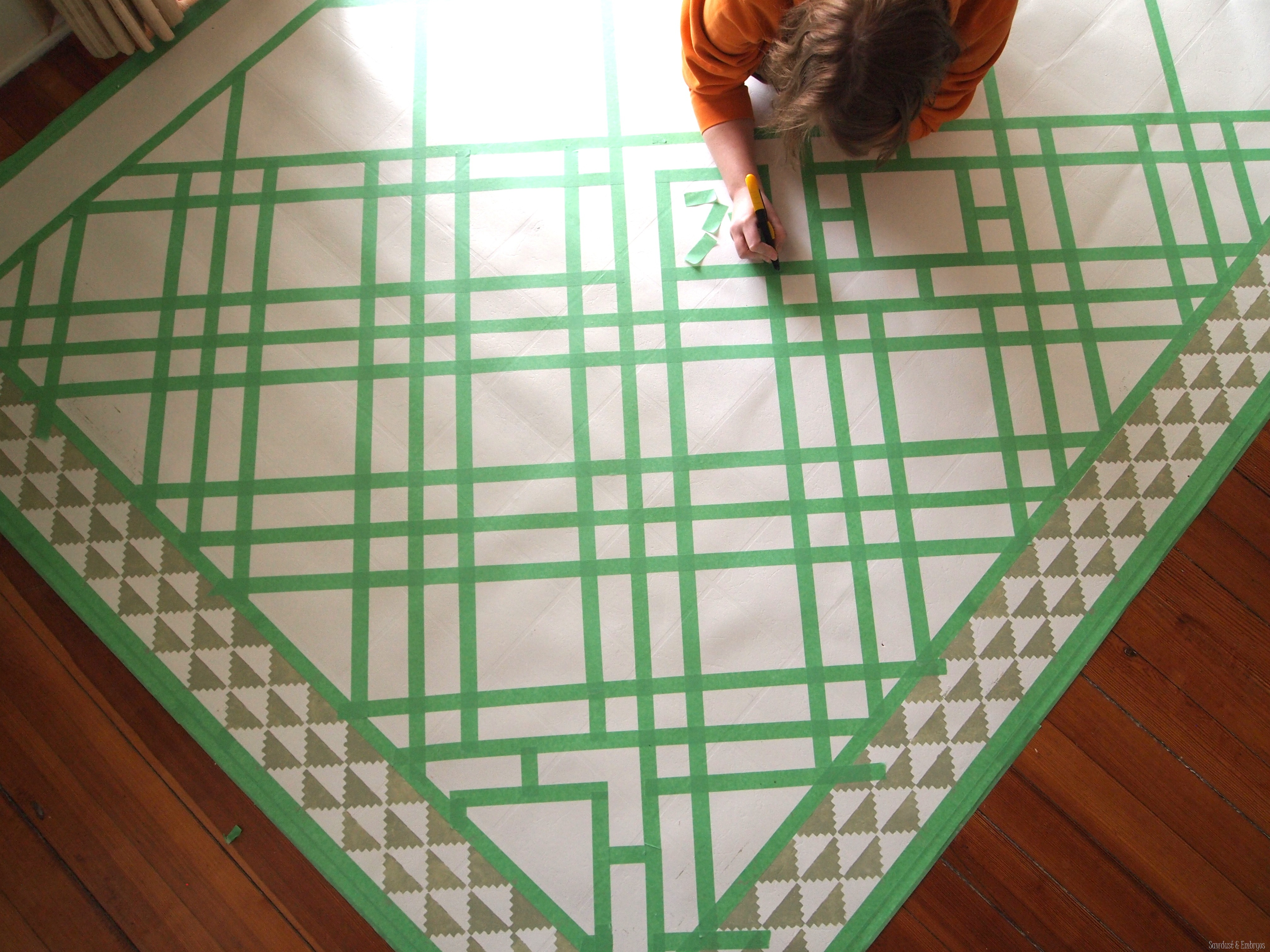 Diy Painted Linoleum Area Rug Reality Daydream