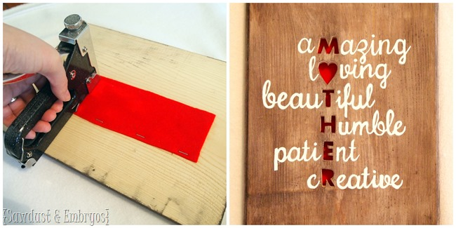 Create a meaningful and custom Mother's Day Gift this year! {Sawdust and Embryos}