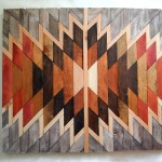 Wooden Kilim Wall Art