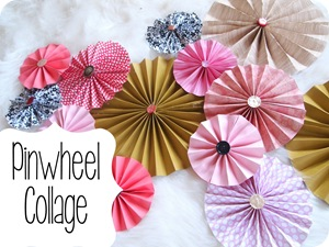 DIY Pinwheels using scrapbooking paper and vintage buttons {Sawdust and Embryos}