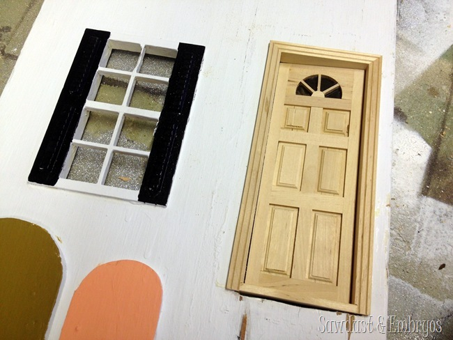 Dollhouse Door from Hobby Lobby {Sawdust and Embryos}