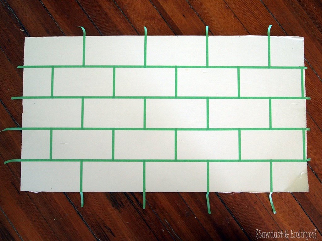 How To Paint A Faux Subway Backsplash! {Sawdust And Embryos}