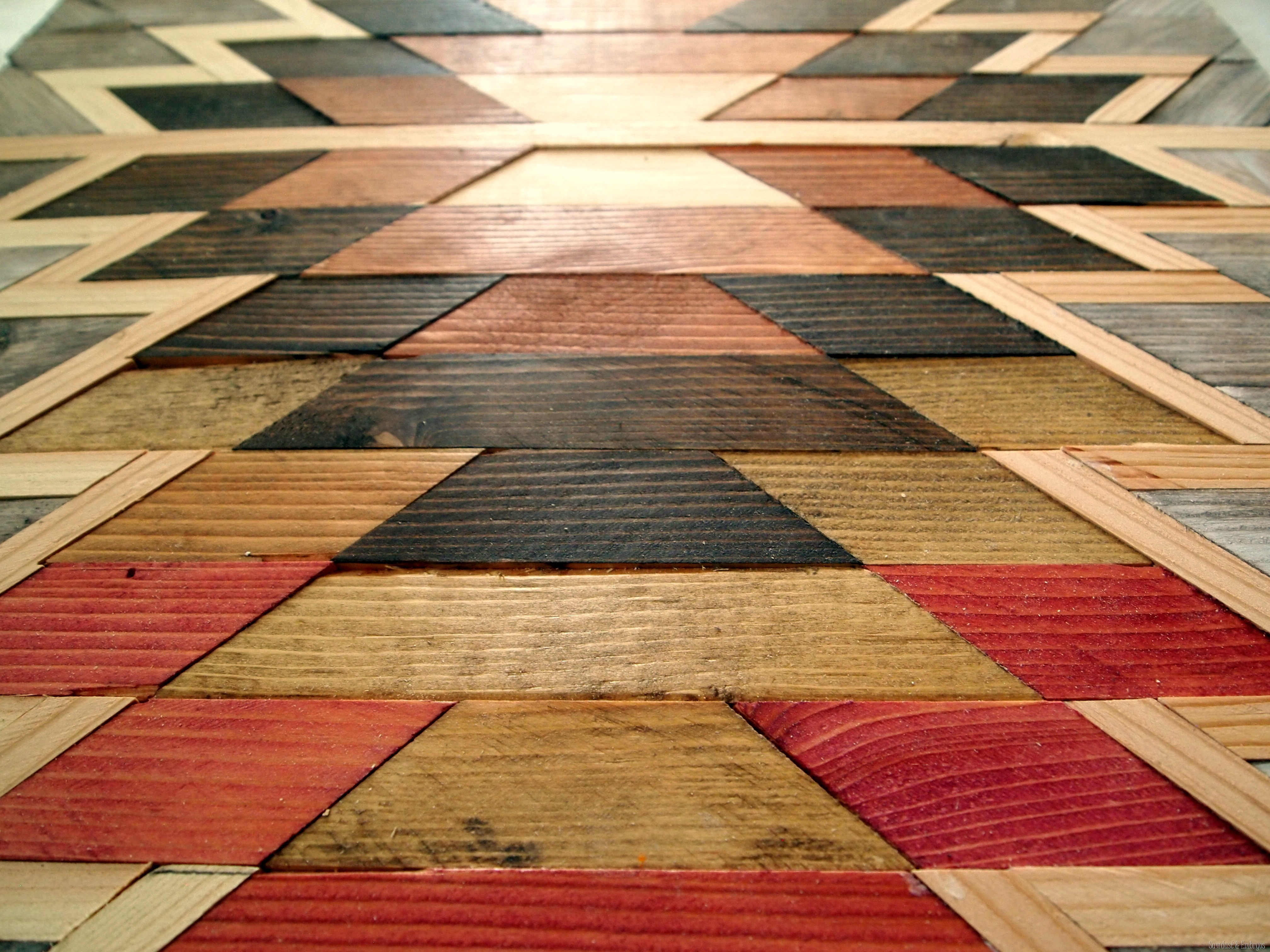 Make Your Own Native American Artwork Using Wood Scraps And Various Shades  Of Wood Stain