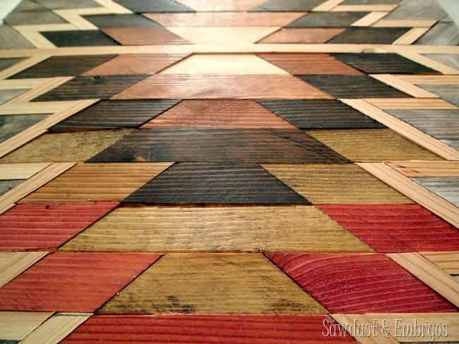 Make your own Native American Artwork using wood-scraps and various shades of wood stain!