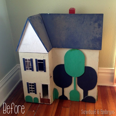 My childhood dollhouse transformation for the twins! {Sawdust and Embryos}