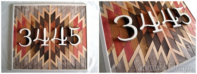 Native American Artwork with house numbers {Sawdust and Embryos}